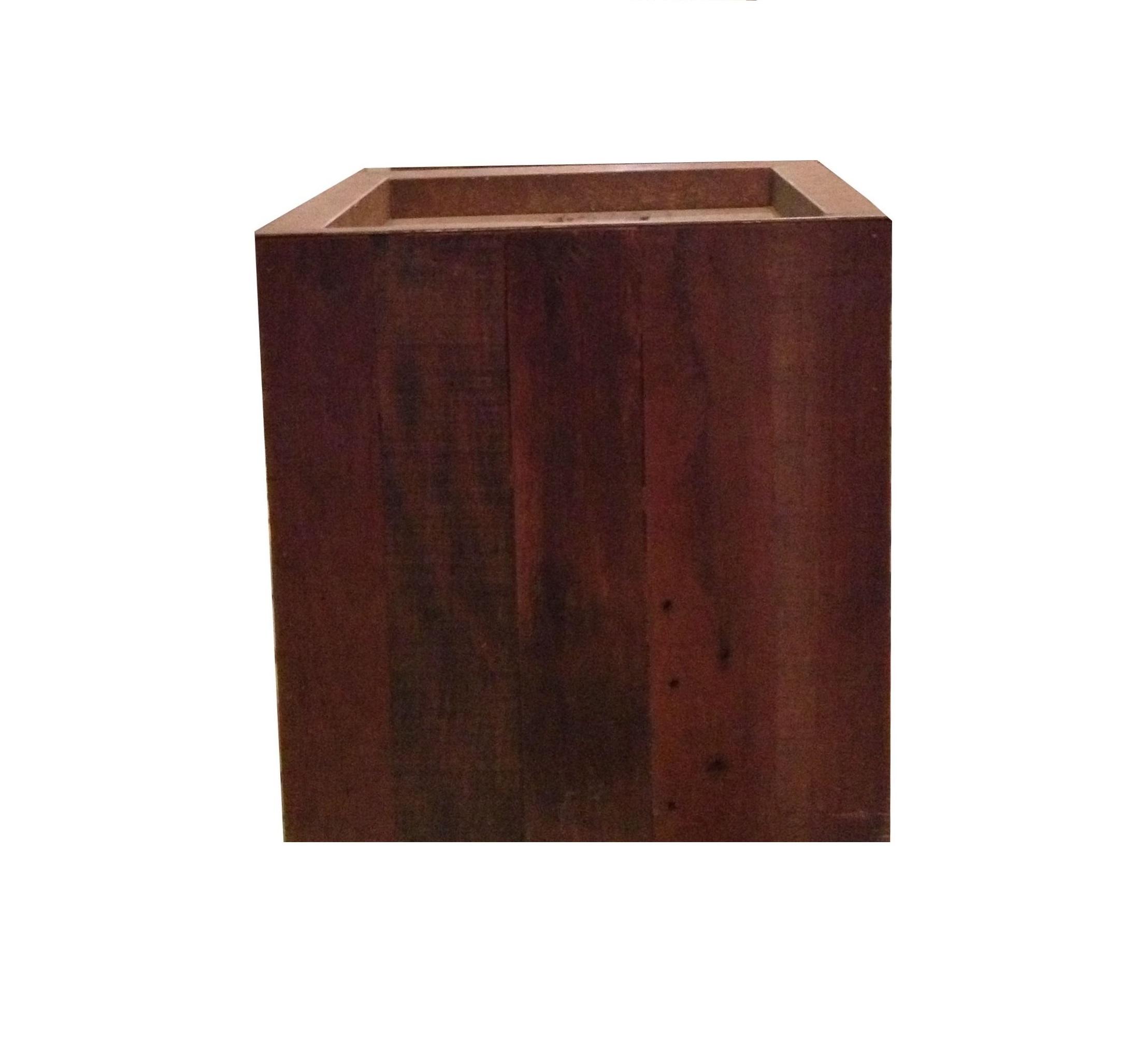 cachepot quadrado de madeira produto vaso de revestido de madeira de  #401F19 2216x2028